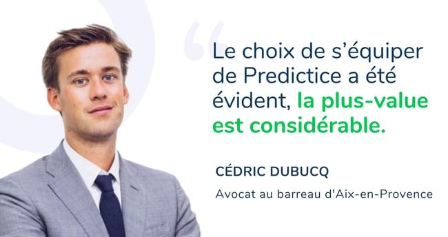 Cédric Dubucq Predictice demande de test