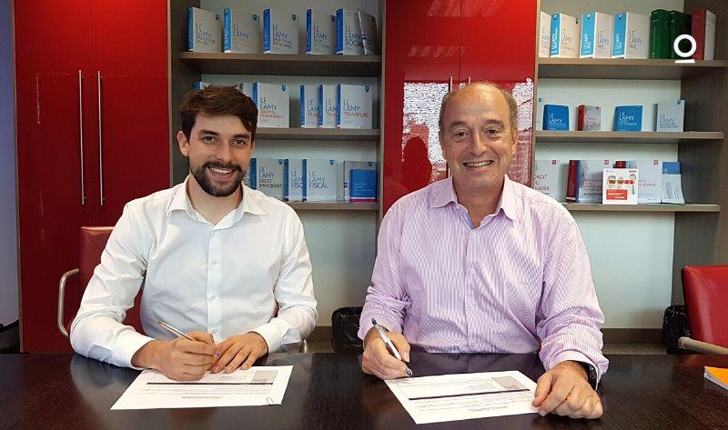 Signature du partenariat entre Wolters Kluwer et Predictice