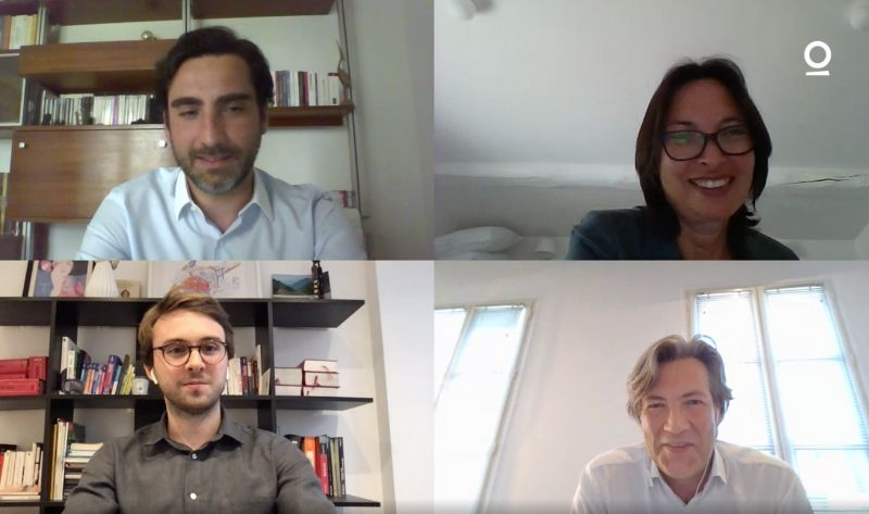 Me Nguyen (Gide Loyrette Nouel), Me Fournier (Redlink), Me De Angelis (De Angelis & Associés) et Arthur Lemaitre (Predictice)