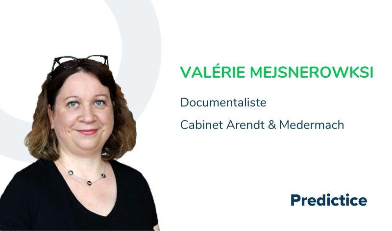 Valérie Mejsnerowksi, documentaliste chez Arendt & Medermach