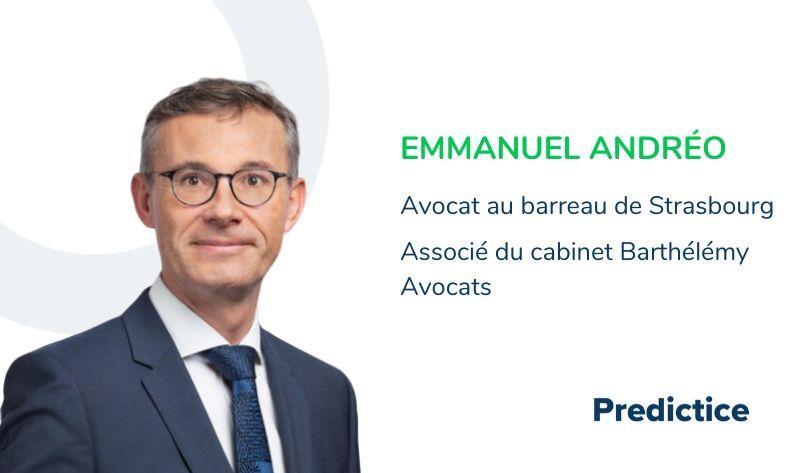 MaîtreEmmanuel Andréo, associé du cabinet Barthélémy Avocats