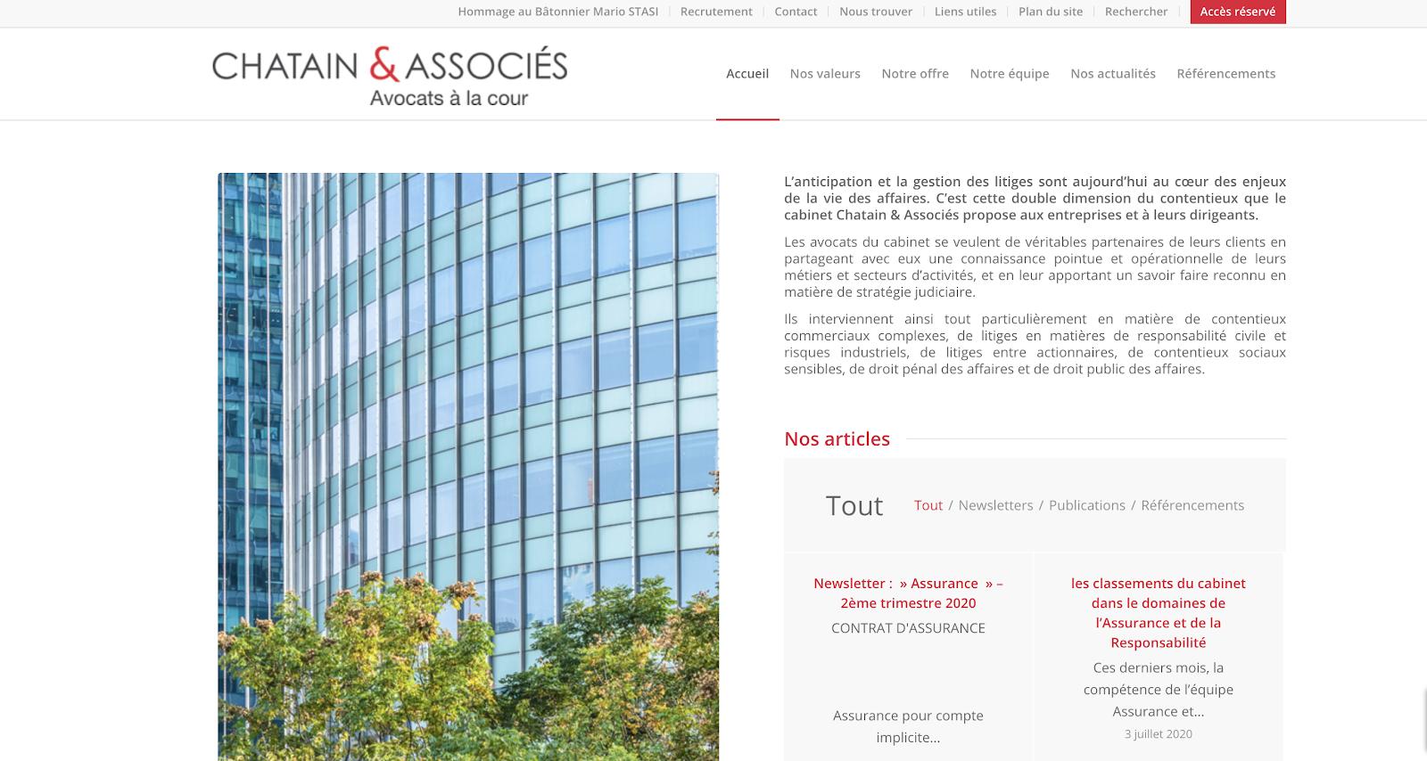 site du cabinet Chatain et associés
