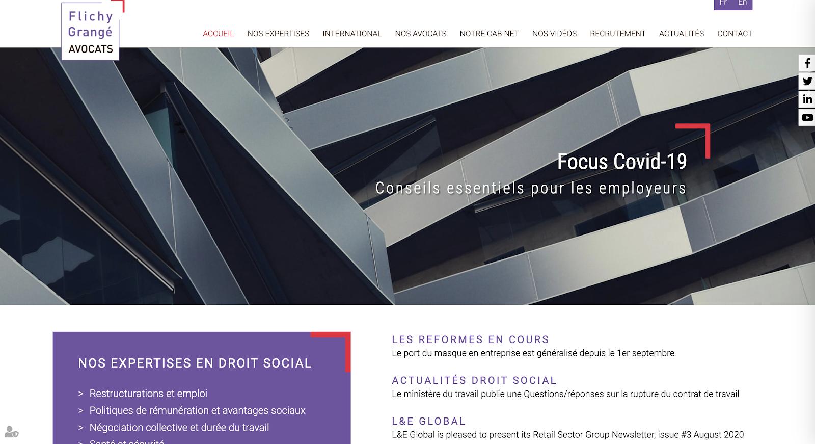 site du cabinet Flichy Grangé