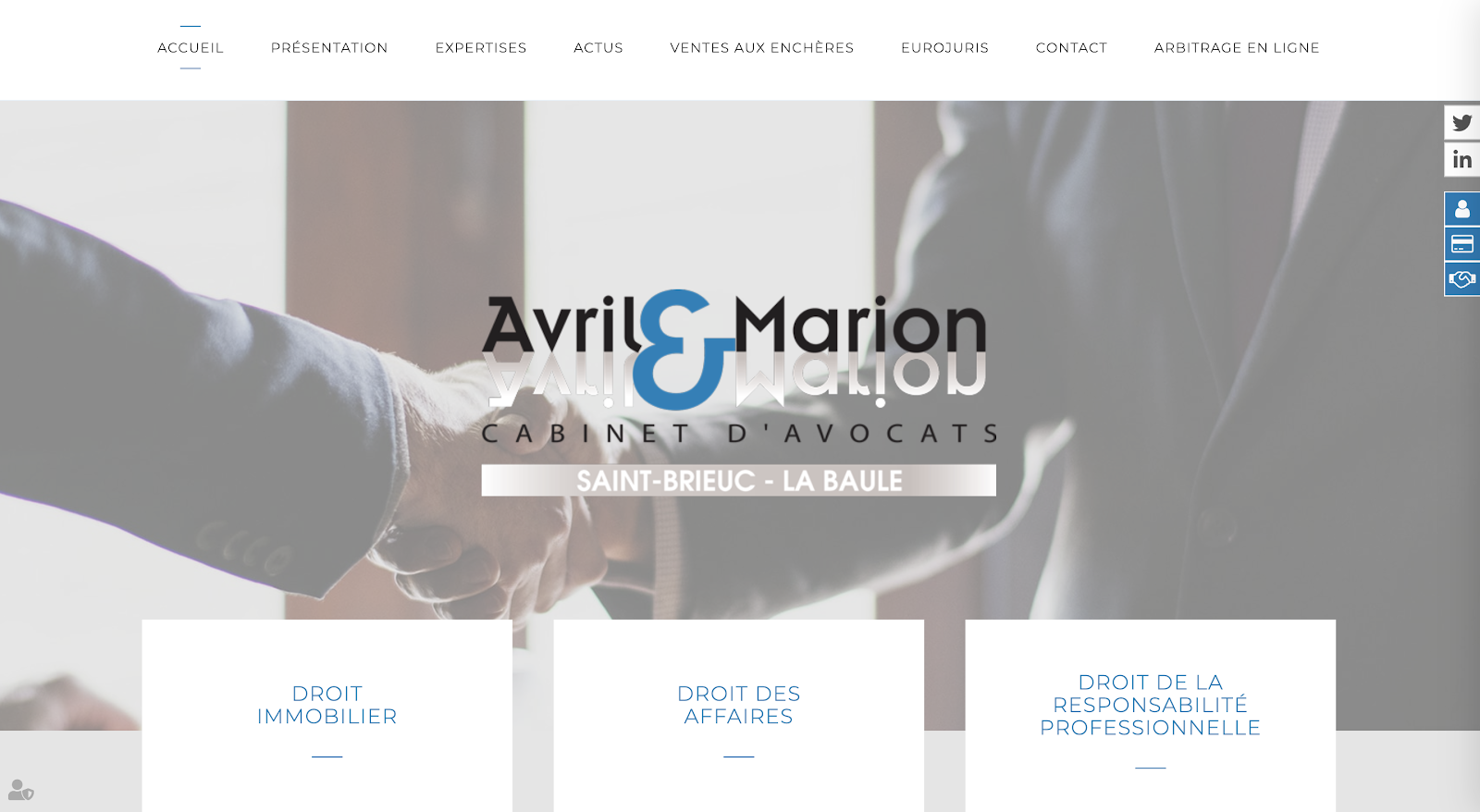 site du cabinet Avril et Marion