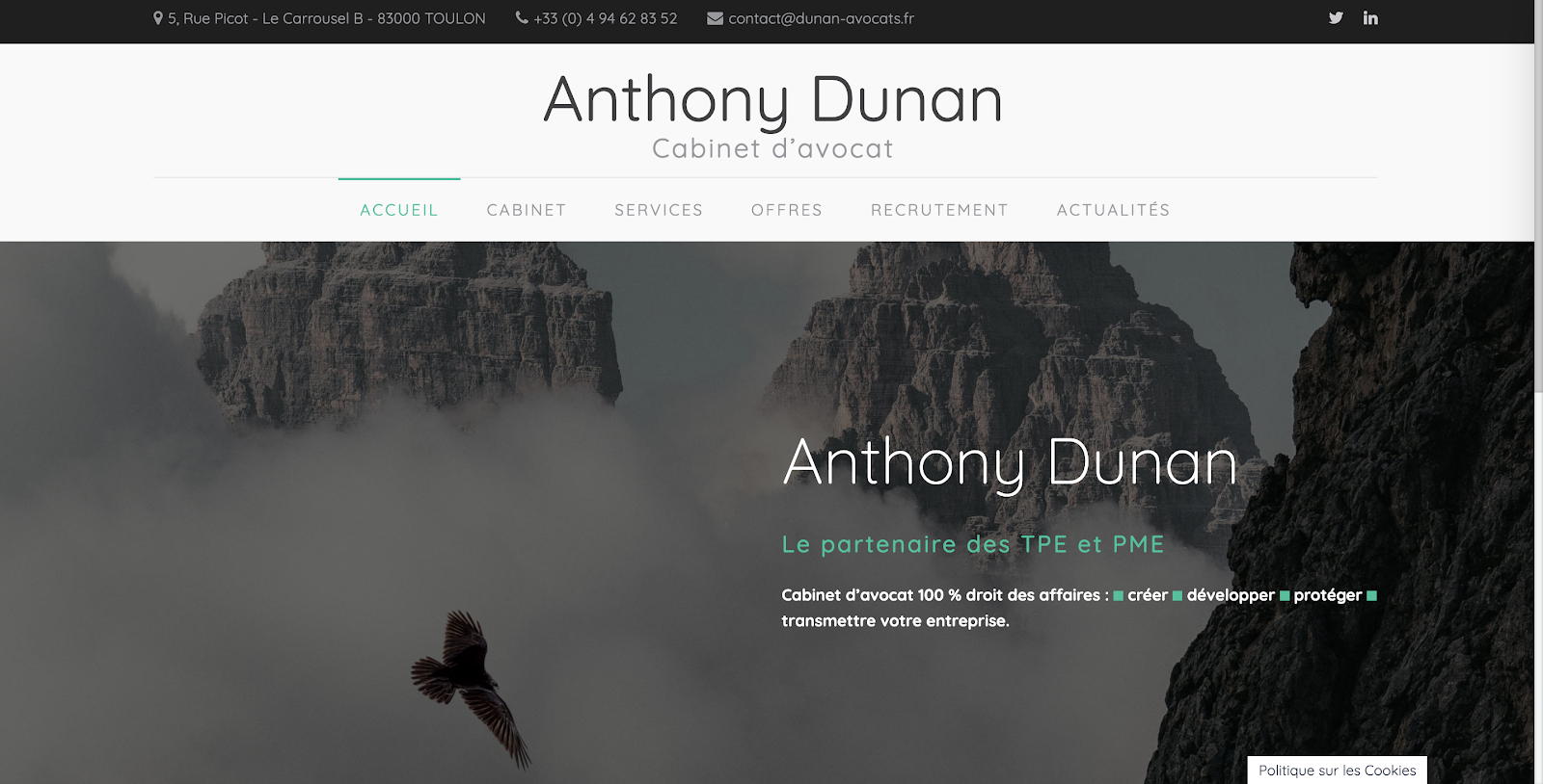 site du cabinet Anthony Dunan avocat